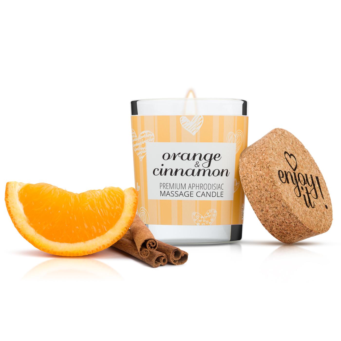Masážní svíčka MAGNETIFICO Enjoy it! - Orange and cinnamon 9