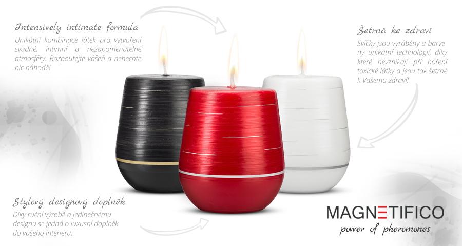 Afrodiziakání svíčky MAGNETIFICO - power of pheromones